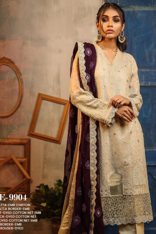 LSM Lakhany Exclusive DAASTAN Formal Embroidered Collection Design 9904