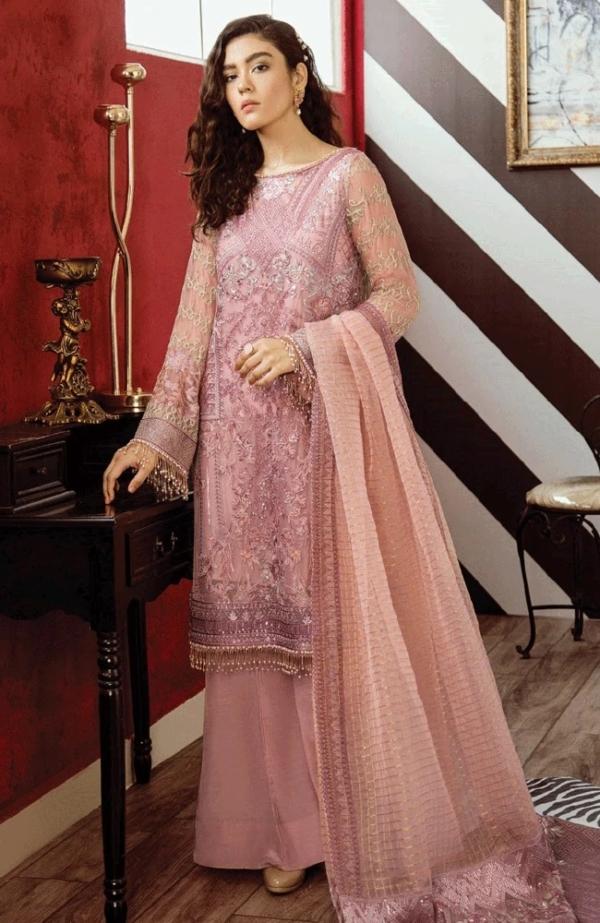 Opulent Chiffon by Iznik Design Carnation Pink HOT