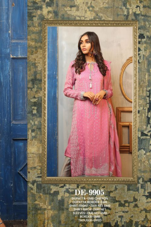 LSM Lakhany Exclusive DAASTAN Formal Embroidered Collection Design 9905