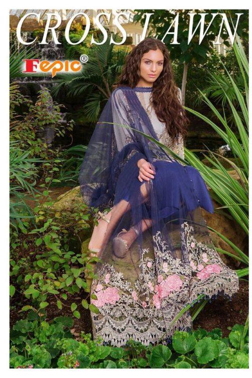 Blue White Pakistani Style Salwar Kameez – Sobia Style