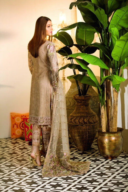 Chevron Chiffon Party Collection by Ramsha A-102