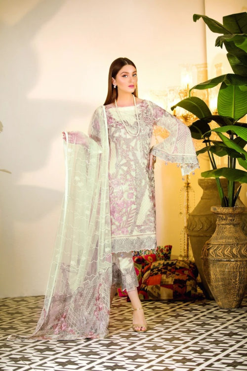 Chevron Chiffon Party Collection by Ramsha A-104