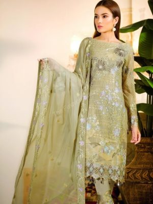 Chevron Chiffon Party Collection by Ramsha A-108