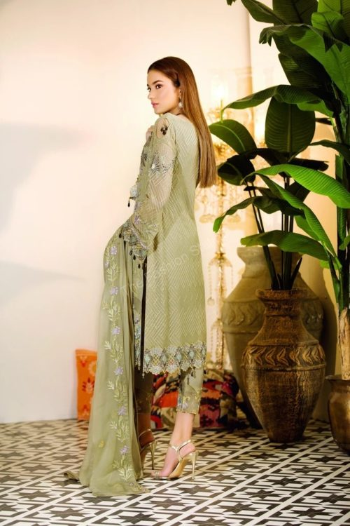 Chevron Chiffon Party Collection by Ramsha A-109