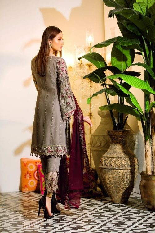 Chevron Chiffon Party Collection by Ramsha A-106
