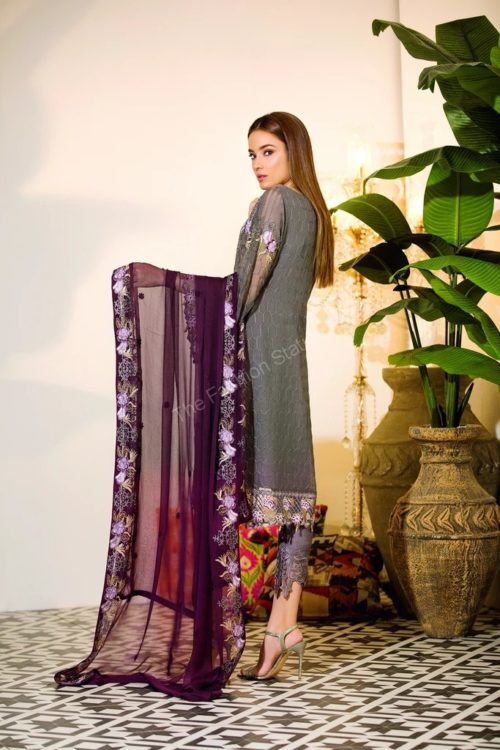 Chevron Chiffon Party Collection by Ramsha A-103