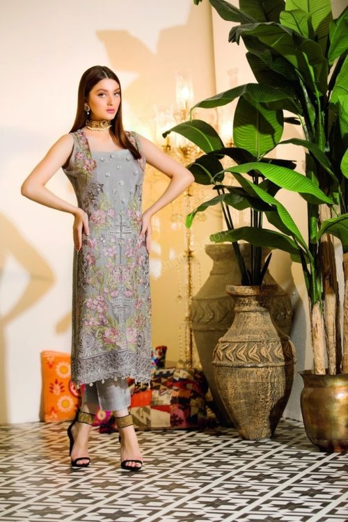 Chevron Chiffon Party Collection by Ramsha A-110