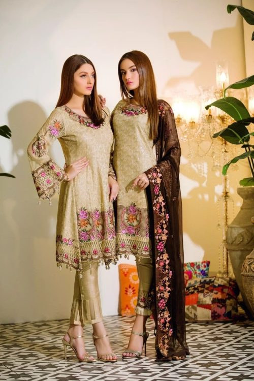 Chevron Chiffon Party Collection by Ramsha A-111