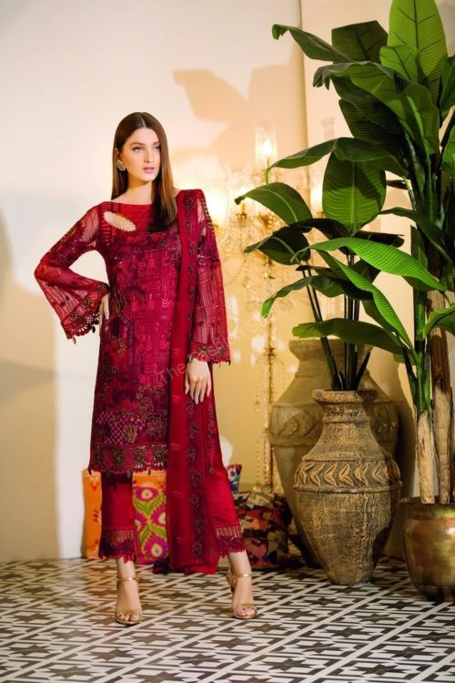 Chevron Chiffon Party Collection by Ramsha A-105 HOT