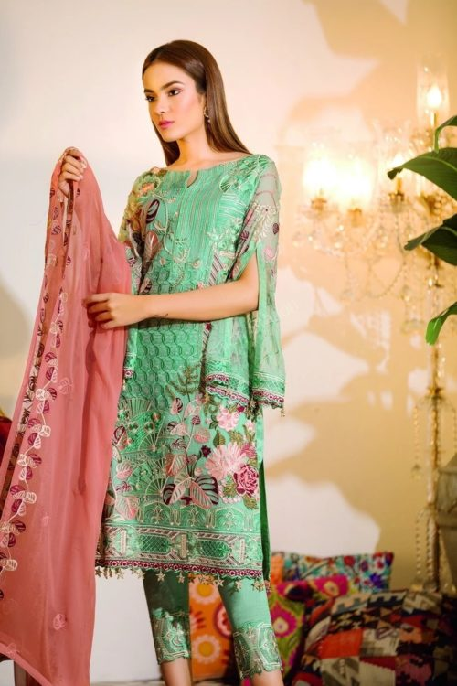 Chevron Chiffon Party Collection by Ramsha A-107