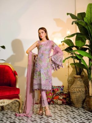 Chevron Chiffon Party Collection by Ramsha A-101 HOT