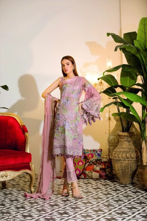 Chevron Chiffon Party Collection by Ramsha A-112