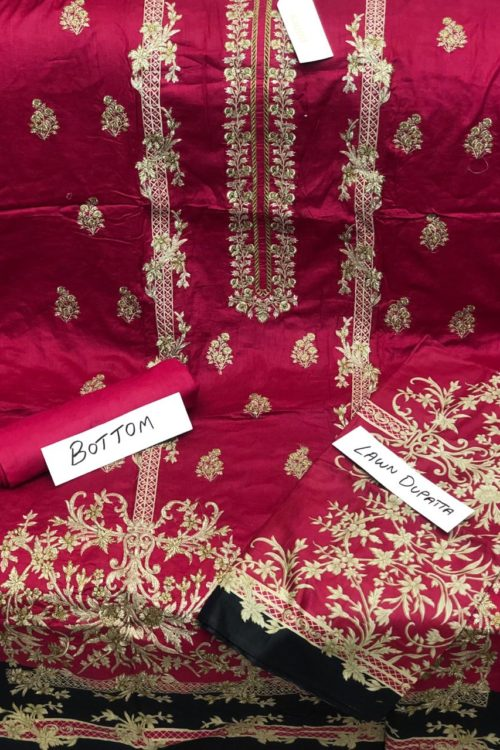 Bin Saeed Lawn Embroidered Salwar Kameez