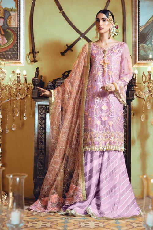 Mehr-un- Nisa Embroidered Festive Chiffon - Original