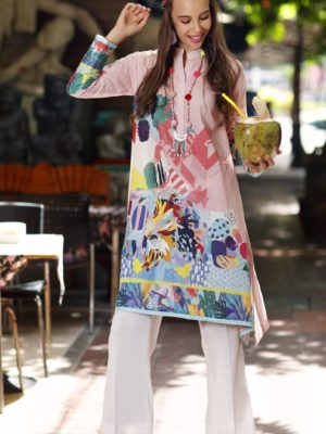 Gul Ahmed Yolo Kurti Cambric Collection 2019 SCN 97