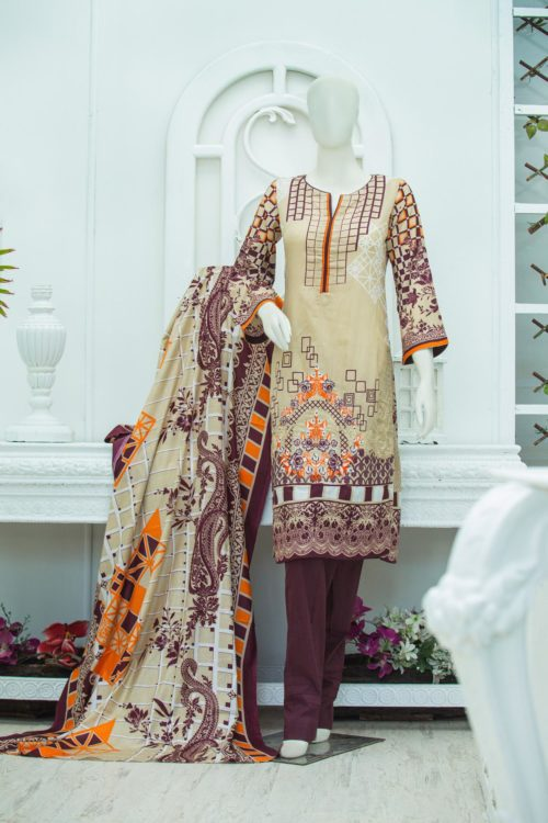 *On Sale* Bin Saeed Lawn Embroidered – BS-1908A best pakistani suits collection