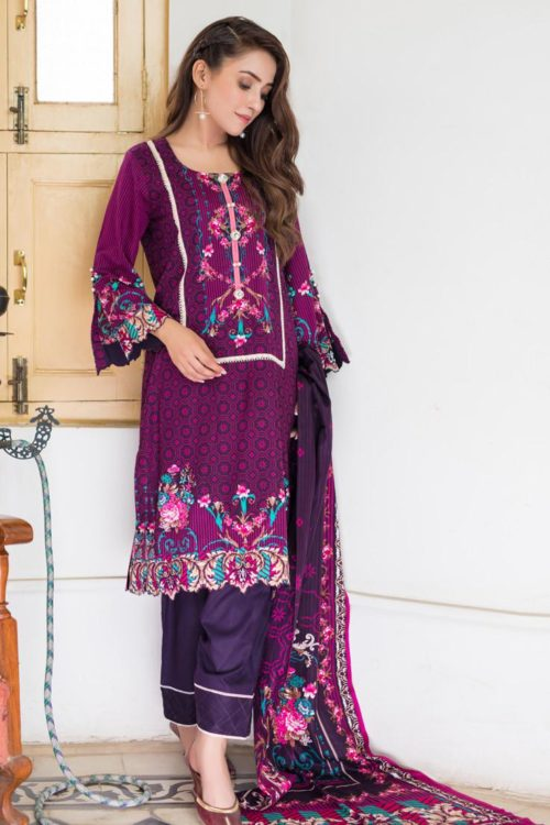 Resham Cambric by Firdous - Original Resham Cambric by Firdous Design 105B [tag]