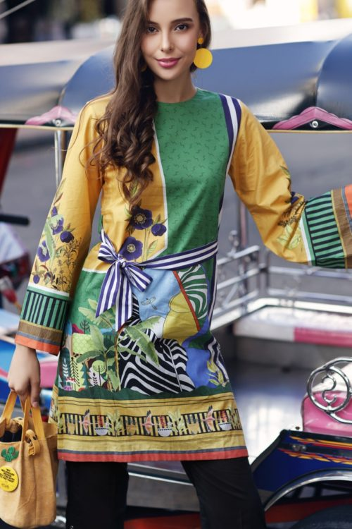 Gul Ahmed Yolo Kurti Cambric Collection 2019 SCN 104