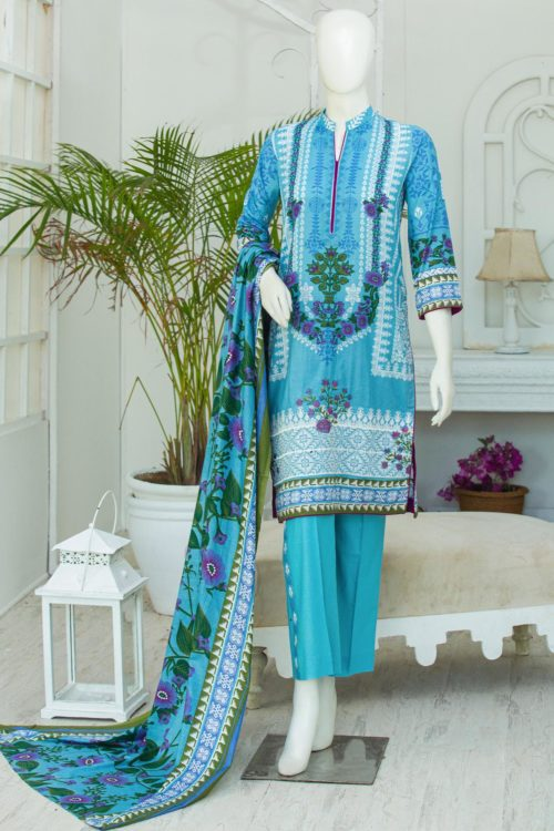 *On Sale* Bin Saeed Lawn Embroidered –  BS-1907A best pakistani suits collection