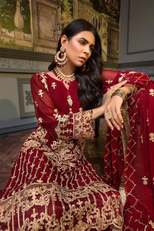 Zeenat by Mohagni Embroidered Chiffon