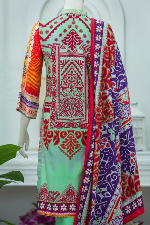 Bin Saeed Lawn Embroidered – Box Packing BS-1910A