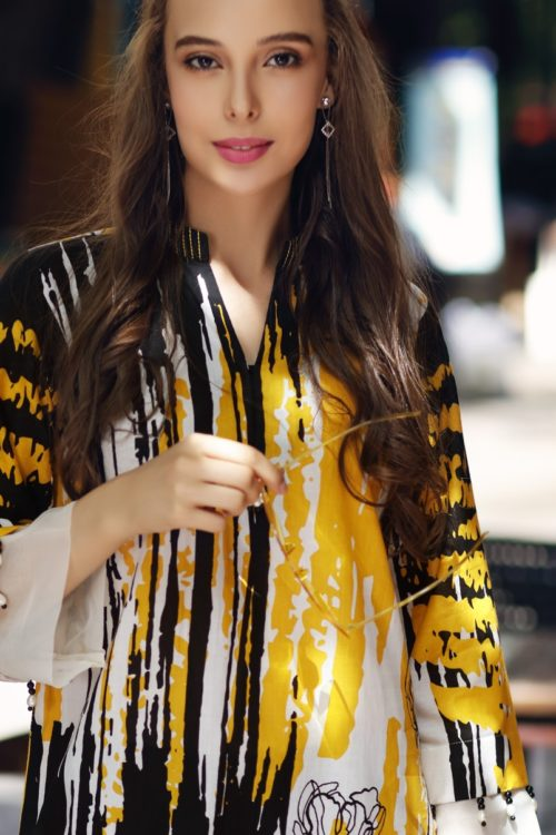 Gul Ahmed Yolo Kurti Cambric Collection 2019 SCN 109