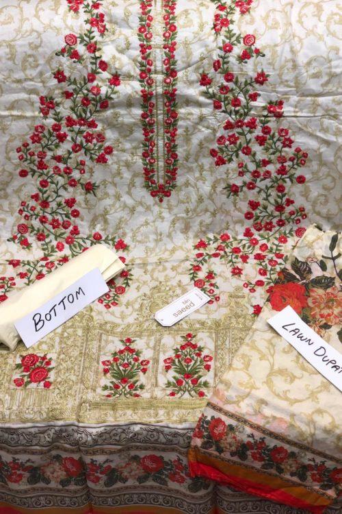 Bin Saeed Lawn Embroidered Salwar Kameez Design 23 HOT