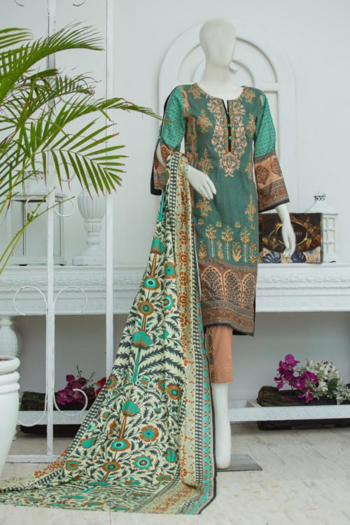 Bin Saeed Lawn Embroidered – Box Packing BS-1911B