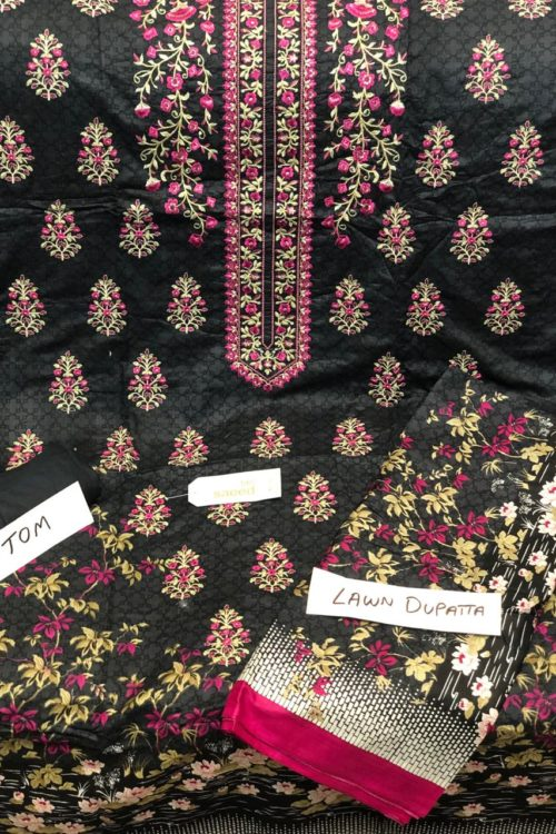 Bin Saeed Lawn Embroidered Salwar Kameez HOT
