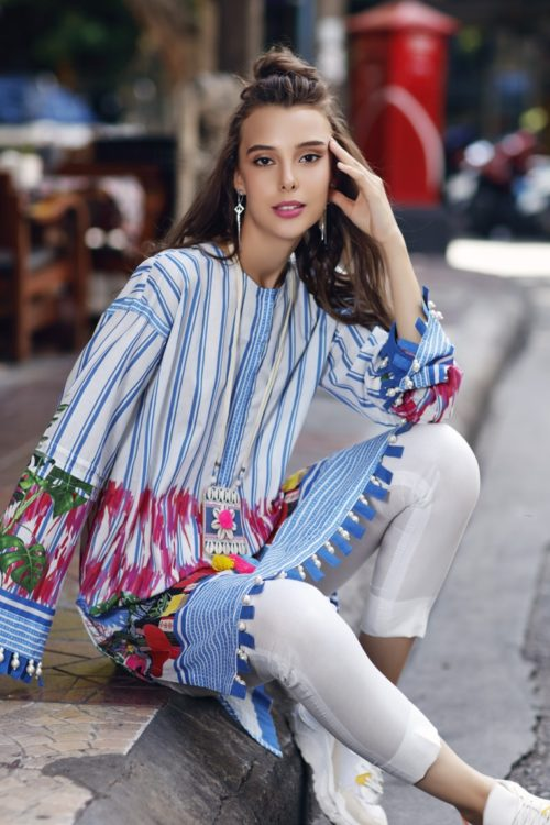 Gul Ahmed Yolo Kurti Cambric Collection 2019 SCN 102