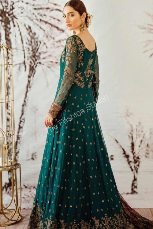 Opulent Chiffon by Iznik Design Cobalt Green RESTOCKED