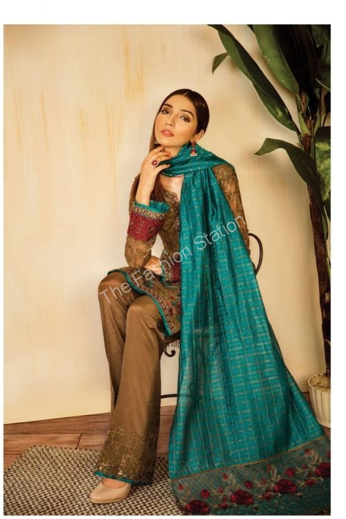 Opulent Chiffon by Iznik Design Moss Green HOT
