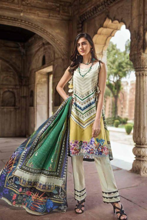 Gul Ahmed Fall Cambric Edition CBN 102A