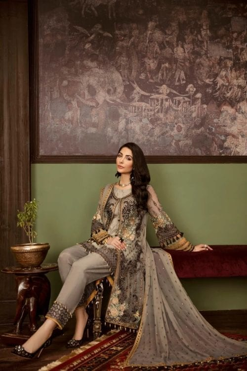 Embroidered Chiffon Salwar Kameez by Flossie  – Design Kyanite Flossie Vol 5 - Original Festive