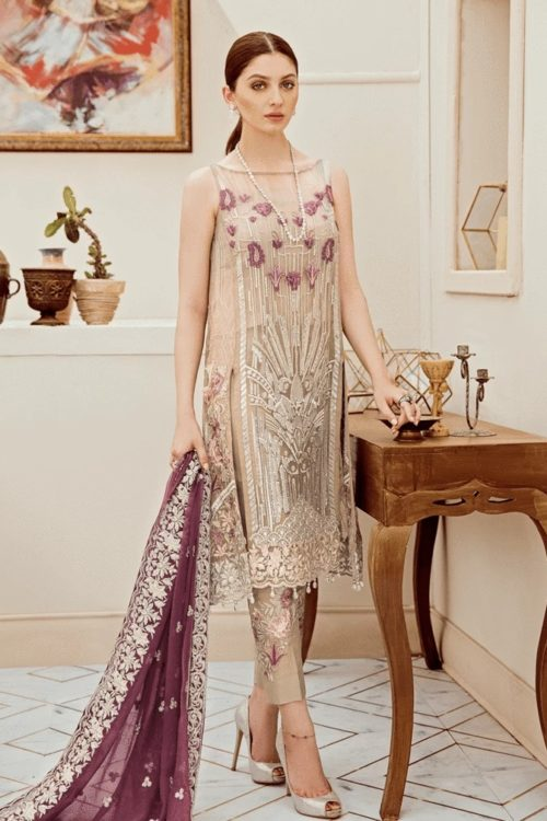 Riona Festive Party Dress by Afrozeh 10 Posh Orchid
