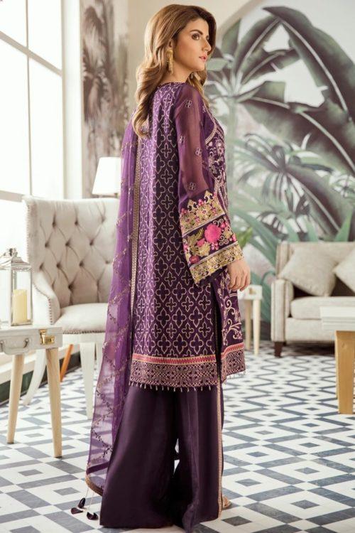 Voyage de L'amoure Pakistani Salwar Suit  |  Afrozeh | 02- Divine Amethyst