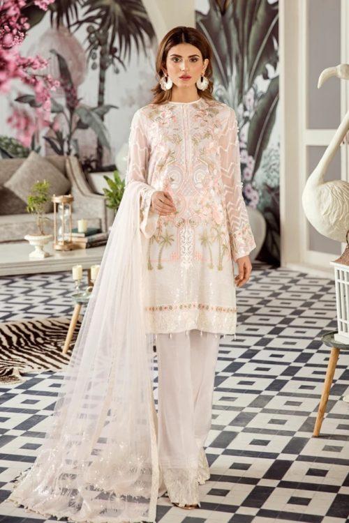 Voyage de L'amoure Pakistani Salwar Suit  |  Afrozeh | 04- Porcelain Magnolia