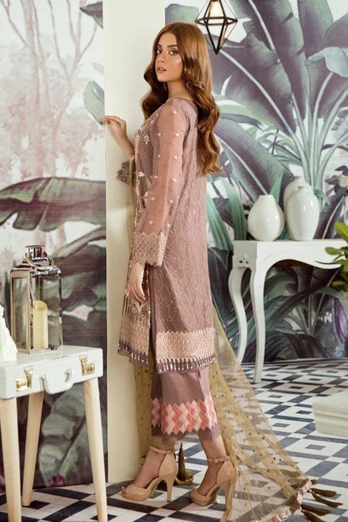 Voyage de L'amoure Pakistani Salwar Suit  |  Afrozeh | 05- Refined Sepia
