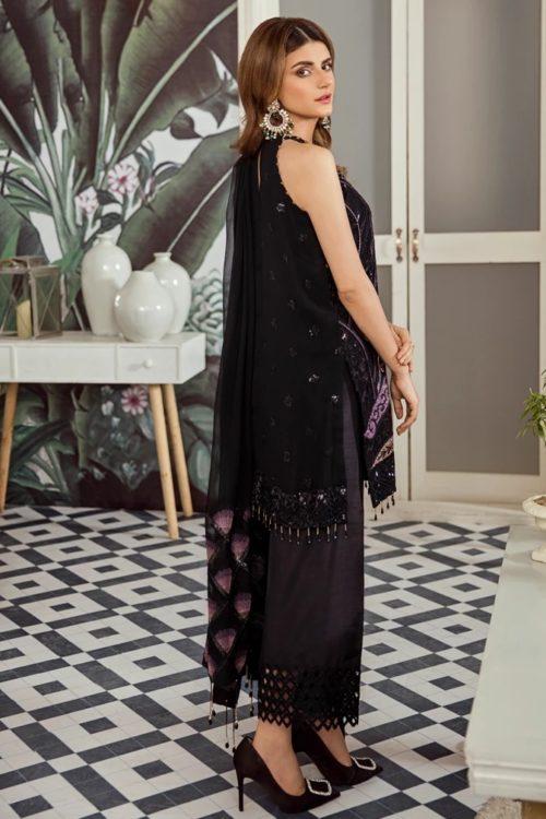 Voyage de L'amoure Pakistani Salwar Suit  |  Afrozeh | 07- Melanoid Onyx Voyage de L'amoure by Afrozeh - Original pakistani suits in mumbai