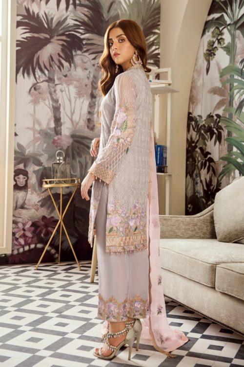 Voyage de L'amoure Pakistani Salwar Suit  |  Afrozeh | 08-Floraison Ciel