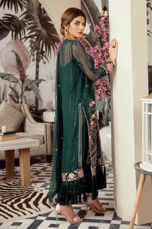 Voyage de L'amoure Pakistani Salwar Suit  |  Afrozeh | 10-Viridian Saga