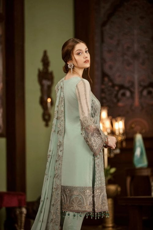 Embroidered Chiffon Salwar Kameez by Flossie  – Design Crystallia Flossie Vol 5 - Original Festive