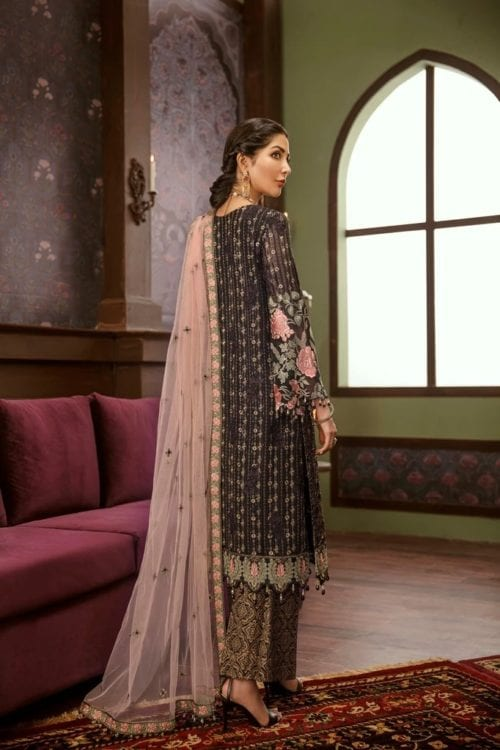Embroidered Chiffon Salwar Kameez by Flossie  – Design Kevser Flossie Vol 5 - Original Festive