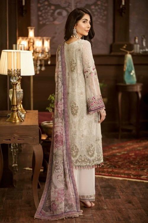 Embroidered Chiffon Salwar Kameez by Flossie  – Design Isabela Flossie Vol 5 - Original Festive