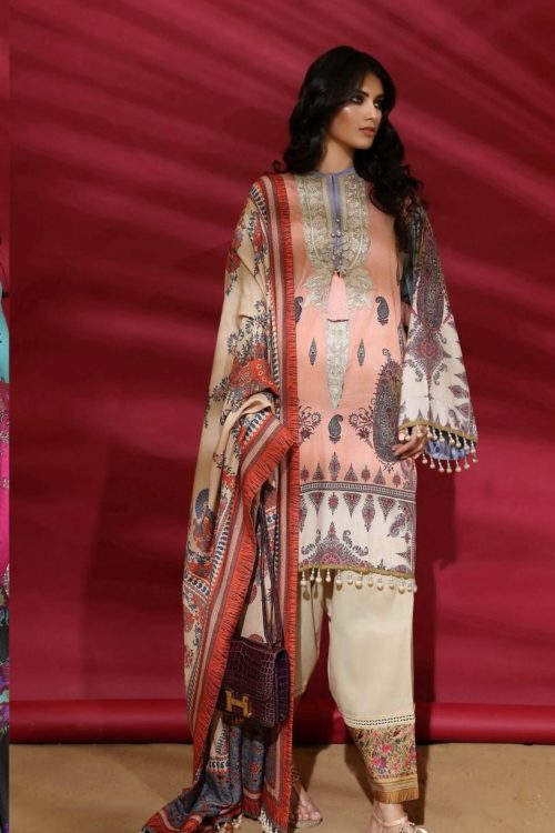 Sana Safinaz |  Winter Muzlin | 2019 | 2A Sana Safinaz Winter Muzlin 2019 - Original Salwar Suits Pakistani Suits for Winter