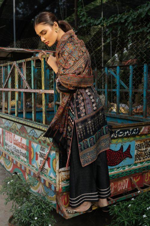 Rehab Winter Shawl by Qalamkar - Original Rehab Winter Shawl by Qalamkar Design QWK 04 Salwar Suits Pakistani Suits for Winter