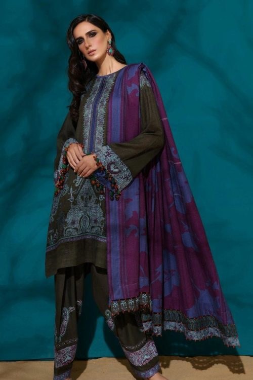 Sana Safinaz |  Winter Muzlin | 2019 | 5A Sana Safinaz Winter Muzlin 2019 - Original Salwar Suits Pakistani Suits for Winter