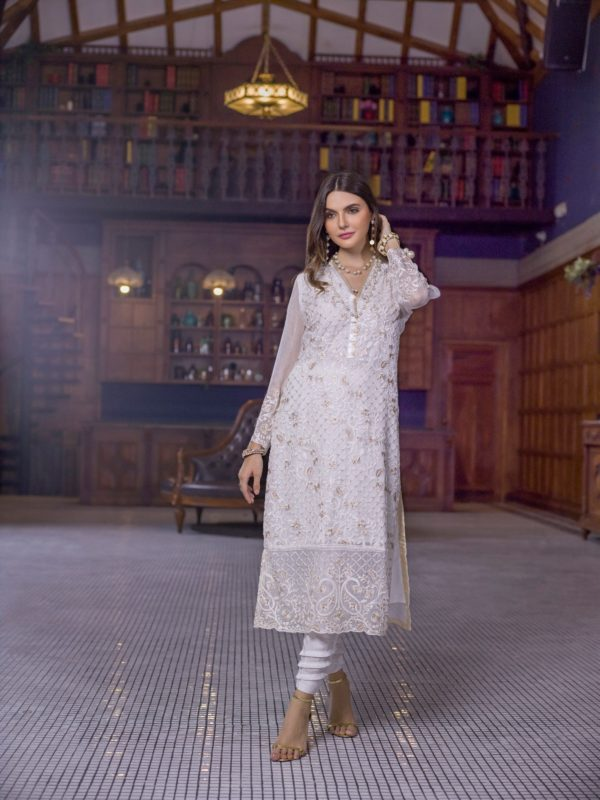 Pakistani Kurti Azure Luxury Formals Vol 5 Crystal Dove – LFD11