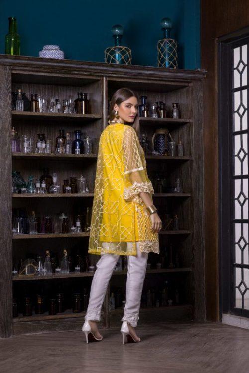 Pakistani Kurti Azure Luxury Formals Vol 5 Lemon Infusion – LFD02