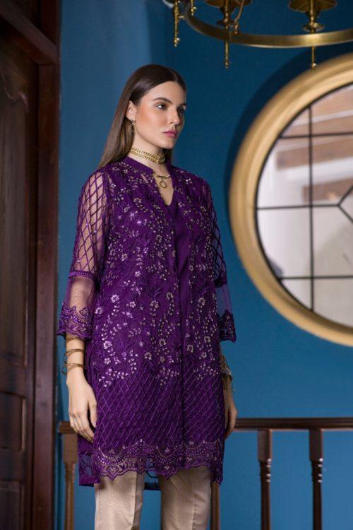 Pakistani Kurti Azure Luxury Formals Vol 5 Clover Plum – LFD03